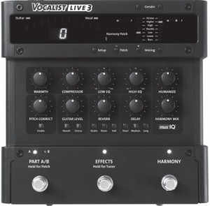 Vocalist Live3 Harmoniser - Click the image to go to the Vocalist site and read all about this pedal - opens in a new tab / window